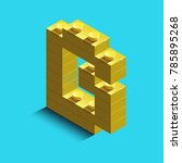 realistic  gold 3d isometric... | Shutterstock .eps vector #785895268