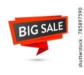 sale label banner  black and... | Shutterstock .eps vector #785897590