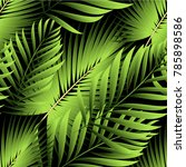 tropical palm leaves  jungle... | Shutterstock .eps vector #785898586