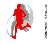 man runner motion isolated... | Shutterstock .eps vector #785902258