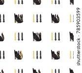 folk seamless pattern.... | Shutterstock .eps vector #785903599