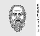 classical sculpture. vector... | Shutterstock .eps vector #785903878