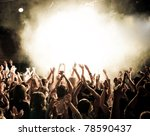 party people at a concert | Shutterstock . vector #78590437