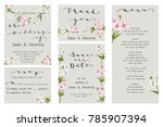 save the date card  wedding... | Shutterstock .eps vector #785907394