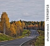 highway m8 moscow arkhangelsk....   Shutterstock . vector #785908918