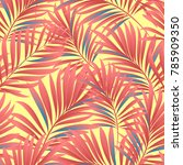 tropical palm leaves  jungle... | Shutterstock .eps vector #785909350