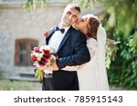 romantic lovely newly married... | Shutterstock . vector #785915143
