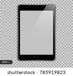 new realistic tablet pc... | Shutterstock .eps vector #785919823