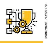 outline icon skill development. ... | Shutterstock . vector #785921470