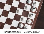 the first moves in the chess... | Shutterstock . vector #785921860