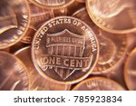huge pile of the us coins | Shutterstock . vector #785923834
