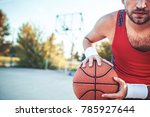 basketball. young basketball... | Shutterstock . vector #785927644
