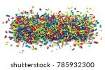 pile of various colored toy... | Shutterstock . vector #785932300