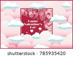 valentines day greeting card... | Shutterstock .eps vector #785935420