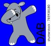 dab dabbing pose hippo kid
