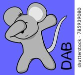 dab dabbing pose mouse kid
