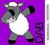 dab dabbing pose sheep kid