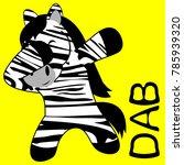 dab dabbing pose zebra kid