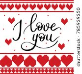 i love you template for banner...   Shutterstock .eps vector #785939350