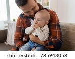 family  parenthood and people... | Shutterstock . vector #785943058