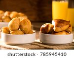 mixed brazilian snack on the... | Shutterstock . vector #785945410