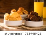 mixed brazilian snack on the... | Shutterstock . vector #785945428