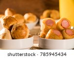 mixed brazilian snack on the... | Shutterstock . vector #785945434