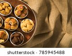 mixed brazilian snack on the... | Shutterstock . vector #785945488