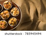 mixed brazilian snack on the... | Shutterstock . vector #785945494