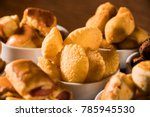 mixed brazilian snack on the... | Shutterstock . vector #785945530