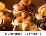 mixed brazilian snack on the... | Shutterstock . vector #785945548