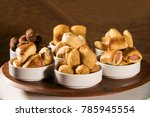 mixed brazilian snack on the... | Shutterstock . vector #785945554