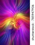 purple violet yellow orange... | Shutterstock . vector #785947936
