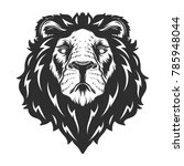 lion head. vector illustration. | Shutterstock .eps vector #785948044