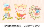 this is cute hand drawn... | Shutterstock .eps vector #785949190