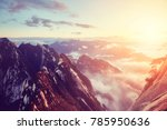 color toned sunset seen form...   Shutterstock . vector #785950636