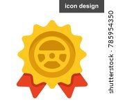 best driver medal icon | Shutterstock .eps vector #785954350