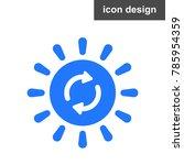 solar energy sign | Shutterstock .eps vector #785954359