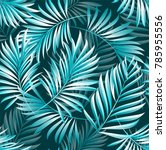 tropical palm leaves  jungle... | Shutterstock .eps vector #785955556
