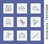 instrument icons set with... | Shutterstock .eps vector #785955868