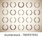 collection of twenty circular... | Shutterstock .eps vector #785957053