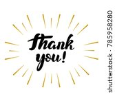 lettering  thank you with... | Shutterstock .eps vector #785958280