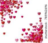 heart love symbol corner for... | Shutterstock .eps vector #785962696