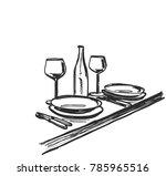 hand drawn wares. romantic... | Shutterstock .eps vector #785965516