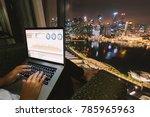 woman freelancer is working... | Shutterstock . vector #785965963