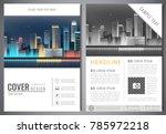 brochure design template with... | Shutterstock .eps vector #785972218
