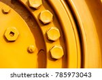 large screw on the yellow... | Shutterstock . vector #785973043