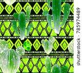watercolor seamless pattern... | Shutterstock . vector #785974489