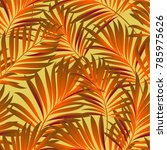 tropical palm leaves  jungle... | Shutterstock .eps vector #785975626