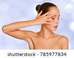 beauty woman with perfect skin... | Shutterstock . vector #785977834